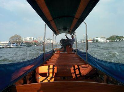 Long tail boat à Bangkok