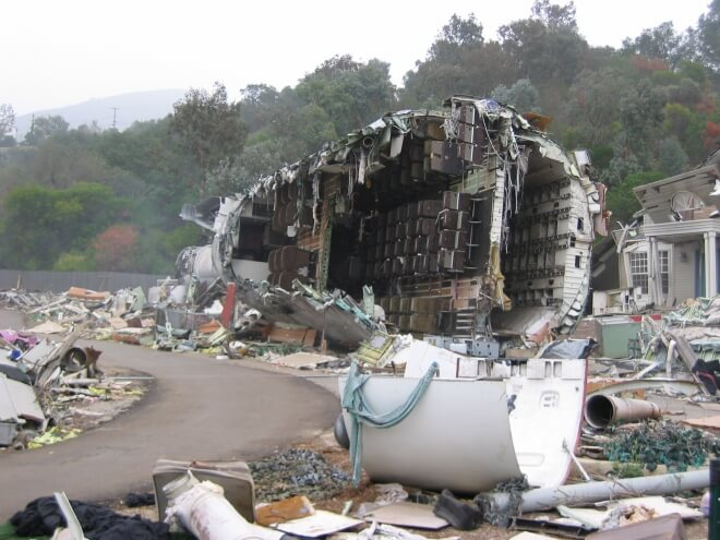 Universal Studio - crash d'avion Los Angeles blog voyage
