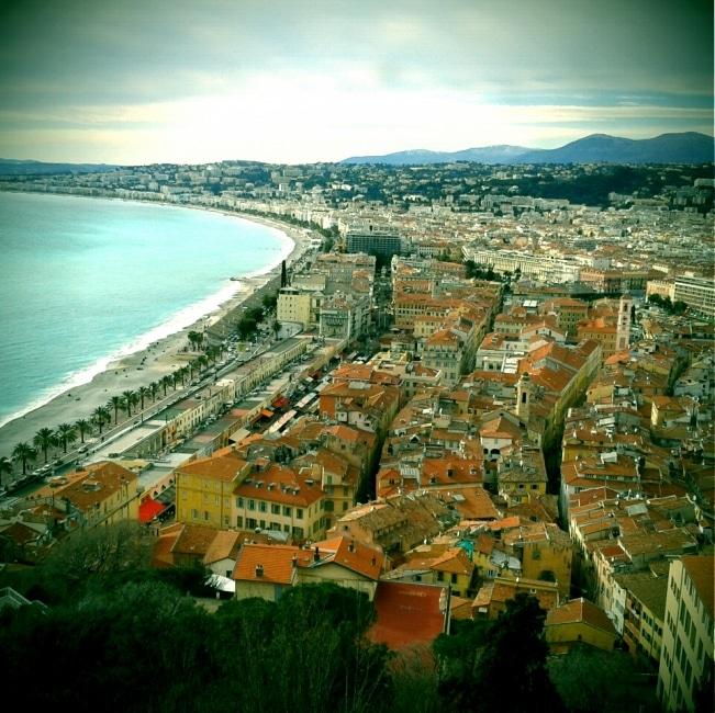 vue du chateau de nice Méditerranée