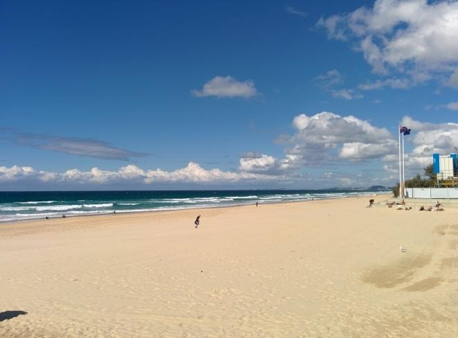 Plage de la gold coast australie