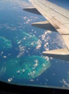 la barriére de corail vue du ciel