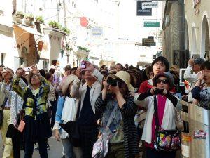 beaucoup trop de touristes