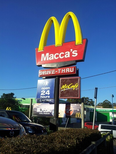 fast food australie - macca's - Mc donalds