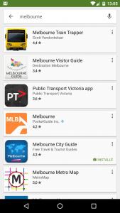 Melbourne App - visiter une ville
