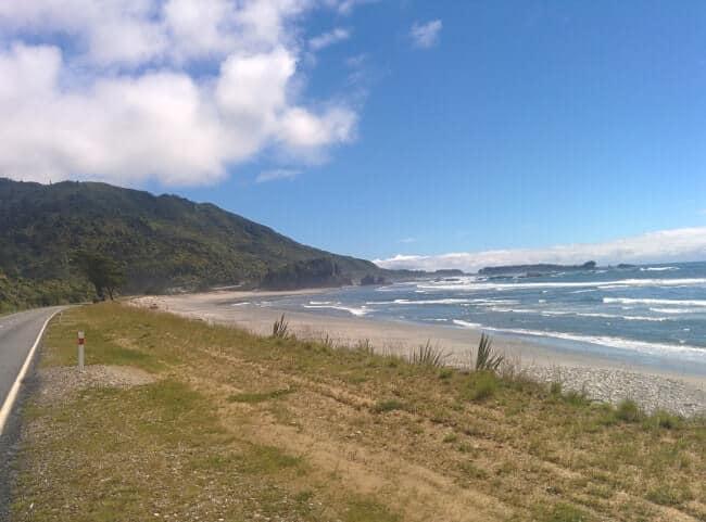 West coast, côte ouest nouvelle zélande, île du sud en road trip en stop