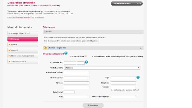 CNIL mode d'emploi blog inscription